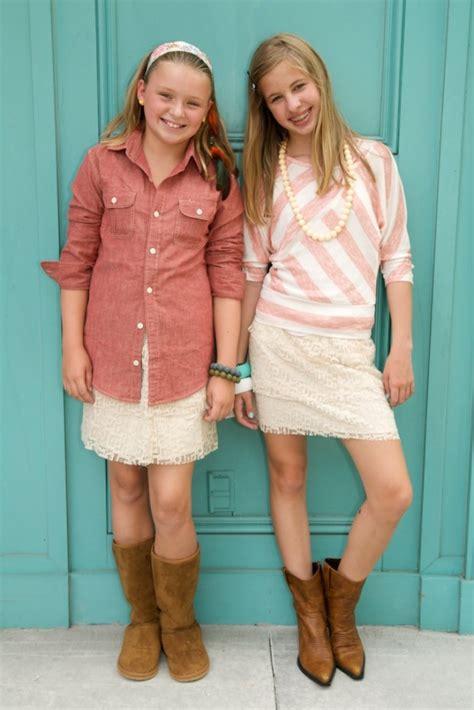 cute tween girl budding fall fashion for tweens adorable look budding cowgirls
