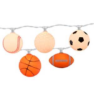 sports string lights mixed sportsball string light set