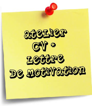 Lettre De Motivation De Vae atelier cv et lettre de motivation mission locale de beaune