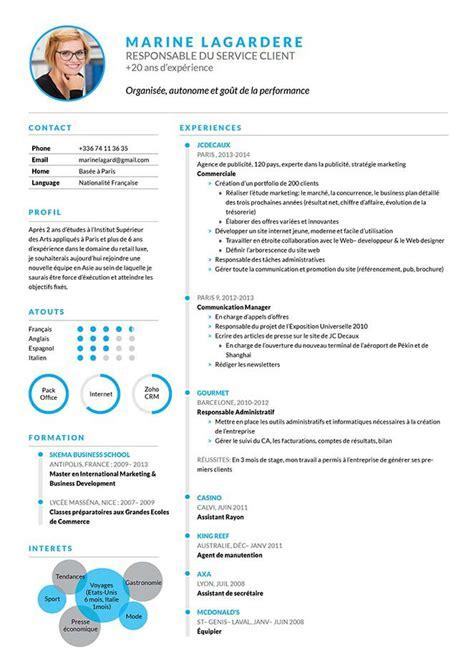 Modele Type Cv by Cv Joli Cv Bien Pr 233 Sent 233 183 Mycvfactory