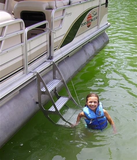 how to build a boat ladder tooner i pontoon ladder pontoon boat access marine ias