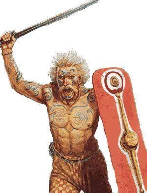 tattoo menai interpretation of a celtic warrior standing on the banks