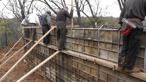 how to pour a basement foundation design build narrow lot vlog 7 pouring the concrete