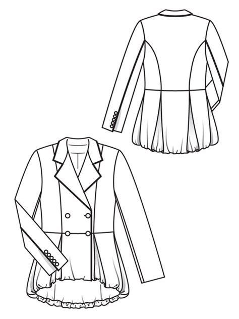 drawing jacket pattern peplum jacket 12 2012 103 50th peplum jacket and patterns