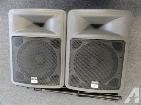 Speaker Passive Peavey Bw15 Made In Usa peavey pr15 pair portable passive pa speakers with stands for sale in new bedford