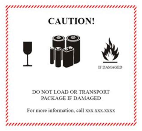 Un 3481 Label Printable Www Bilderbeste Com Lithium Ion Battery Label Template