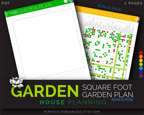 Square Foot Garden Planner Journal Mothers Day Gift Square Foot Gardening Planning Tool