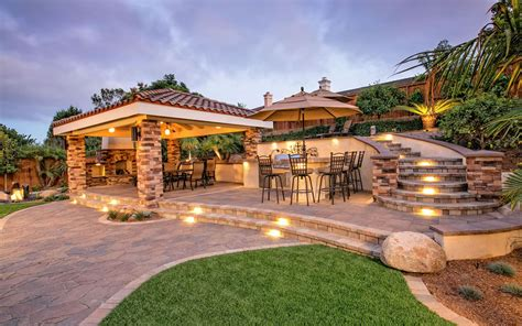 Kitchen Drawings by Outdoor Living Spaces With Bbq Island Gallery Of San Diego