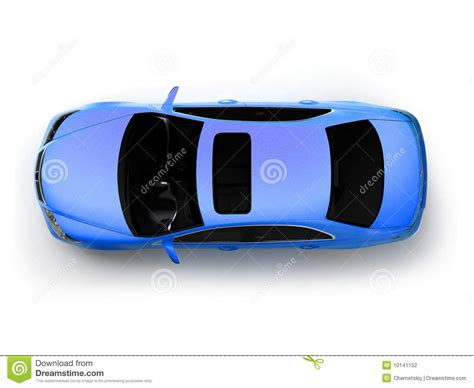 vehicle top view isolated blue modern car top view stock photography