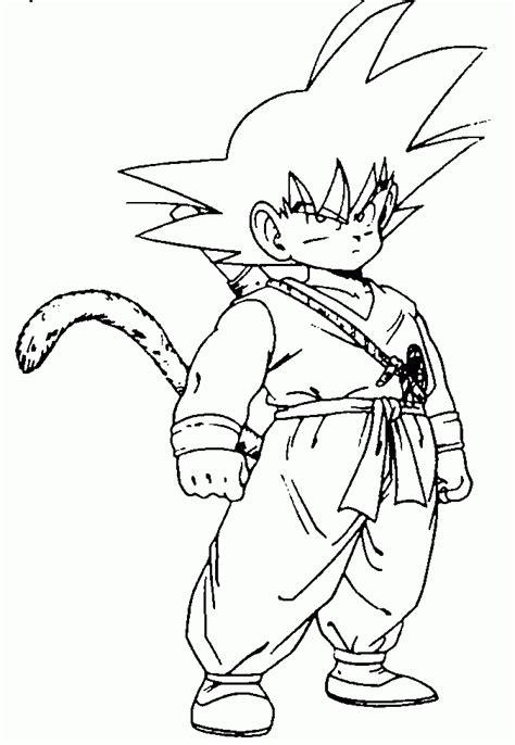 imagenes de goku que se puedan dibujar dibujos para colorear de goku
