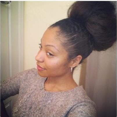 pics of black women pretty big hair buns with added hair 162 best 05 natural hair updo bun style images on