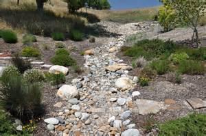 meandering dry creek bed