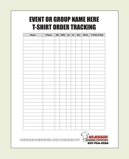 printable t shirt order form template blank t shirt order form template ideas