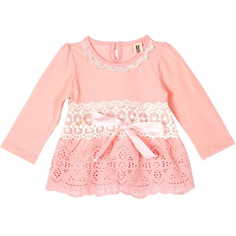 Bow Lace Sleeve T Shirt toddler sleeve t shirt baby lace bow