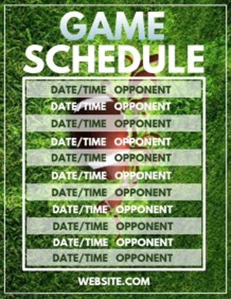 Sports Team Schedules Poster Templates Postermywall Sports Schedule Poster Templates