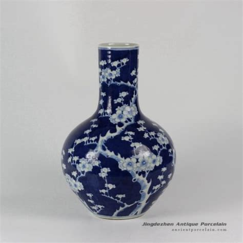 blue pattern vase ryud06 hand painted flower pattern blue white small vases