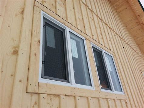 Shed Window Installation by Board Batten Wood Siding Wood Boring Insects