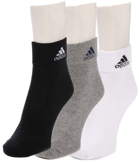 adidas casual ankle length socks for pack of 3 buy at low price in india snapdeal
