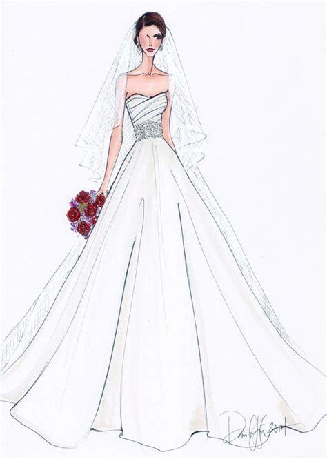 fashion illustration wedding dresses wedding dress croqui pencil and in color wedding dress croqui