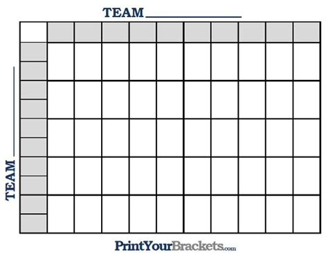football square template blank football pool template new calendar template site