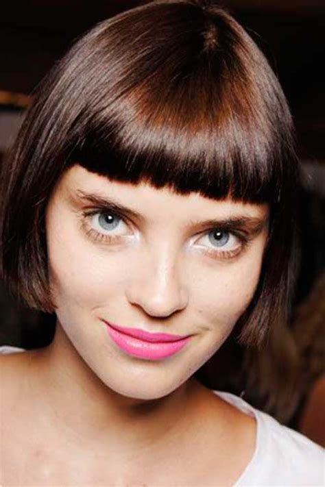 short straight hairstyles with bangs 2013 15 short blunt bob with bangs bob hairstyles 2017