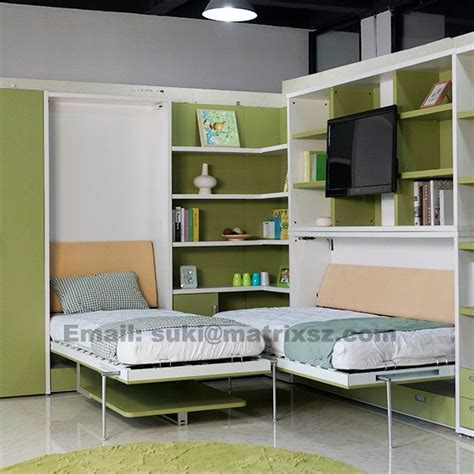 multifunctional bed folding wall bed bed with study table