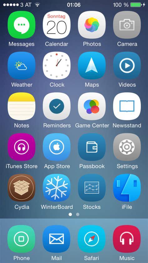 iphone themes names theme iphone新作アイコン winterboardテーマ4種 2014 07 25 bitzedge