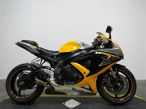 2008 Suzuki Gsxr 600 For Sale by 2008 Suzuki Gsxr 600 Yellow Motorcycles For Sale