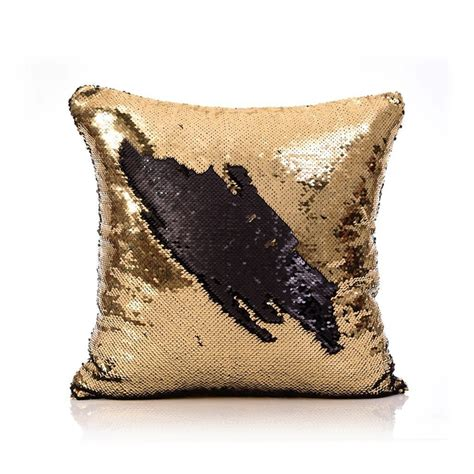Kids Mermaid Bathroom - in stock mermaid pillow cover gold black change color sequins cushion inverted flip sequin