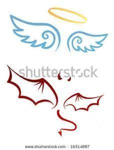 halo and horns tattoo designs wings decal with halo decals