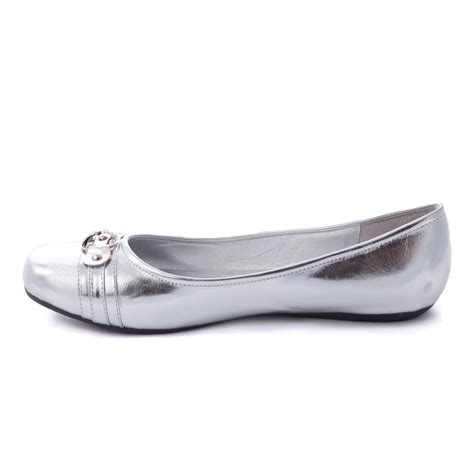silver flat shoes s ballet slip on casual flat shoes ballerina loafer