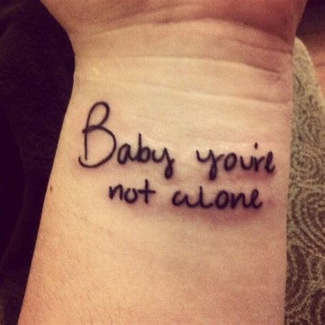 tattoo couple with baby baby you re not alone matching couple tattoo of this
