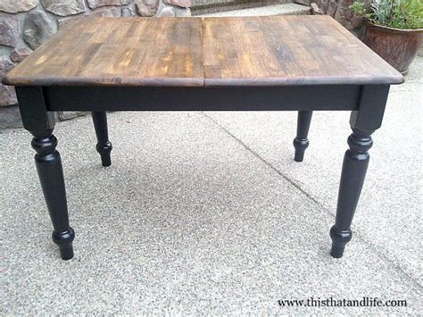 Black Farm Table by 25 Best Ideas About Black Table On