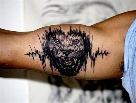 voice pattern tattoo 30 soundwave tattoo designs f 252 r m 228 nner acoustic ink