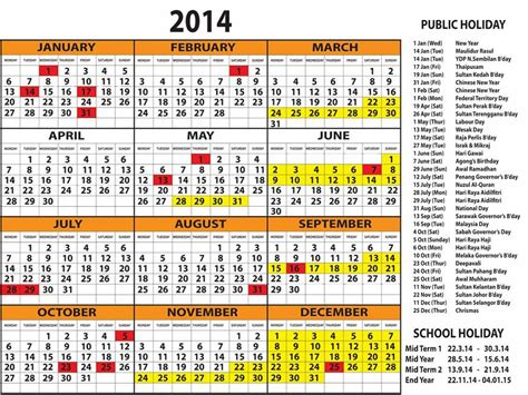 Calendar 2015 With Holidays Malaysia Malaysian Holidays For 2016 Calendar Template 2016
