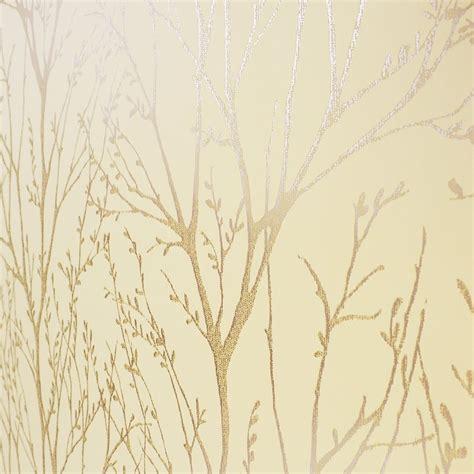 Sticker Wall Tree gold and cream wallpaper wallpapersafari