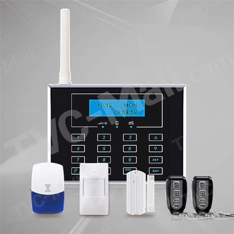 lcd touch screen gsm wireless home security alarm system
