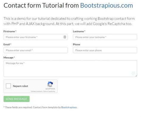 laravel tutorial form laravel updates learning google recaptcha for bootstrap
