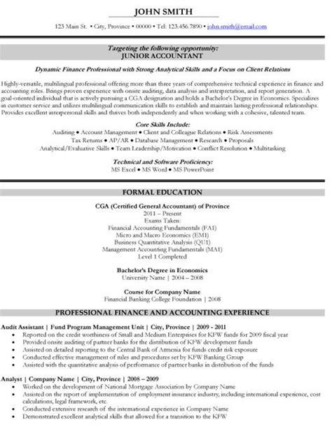 resume sles accountant intermediate accountant sle resume accounting resume pa