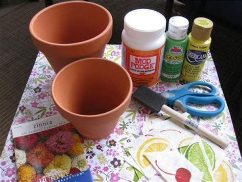 Make Your Own Decoupage - planet how to decoupage flower pots