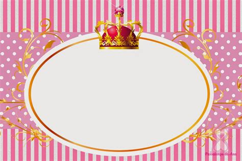 free printable crown invitations queen crown free printable kit oh my fiesta for ladies