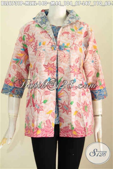 desain baju jas baju batik atasan perempuan dengan desain jas blusbatik
