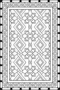 free coloring pages of islamic prayer mat