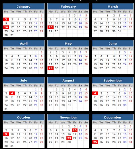 Calendar 2018 With Federal Holidays 2018 Calendar With Federal Holidays Templetes