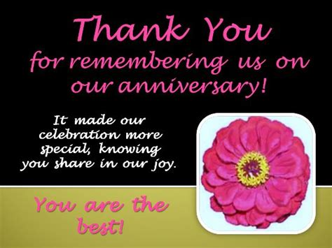 Wedding Anniversary Wishes Reply by A Thank You Ecard To Send To Someone For Remembering Your