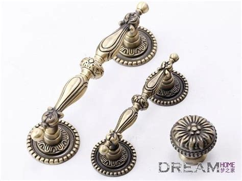 Vintage Handles And Knobs by Vintage Pattern Drawer Pulls Country Style Antique Brass