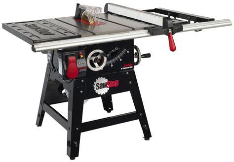 table saw sawstop cns175 sfa30 1 3 4 hp contractor saw with 30 inch aluminum extrusion fence and rail kit