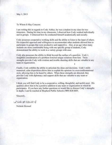 Recommendation Letter Citizenship Sle Personal Testimony S Career Portfolio