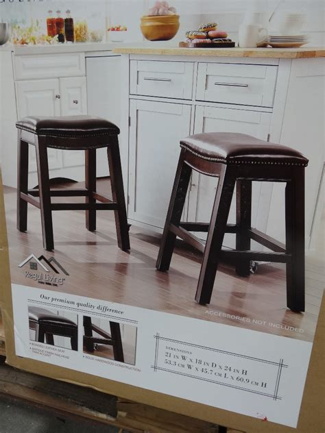 Costco Kitchen Island brooke counter height saddle barstools