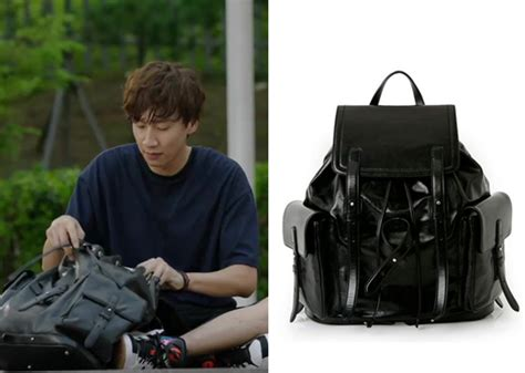 L Inoui Bono Canvas Backpack it s okay that s episode 13 park soo kwang s black